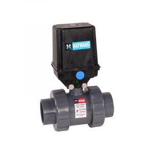 serie eau actuador electrico valvula bola hayward luor7