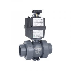 serie ecp actuador electrico valvula bola hayward luor7