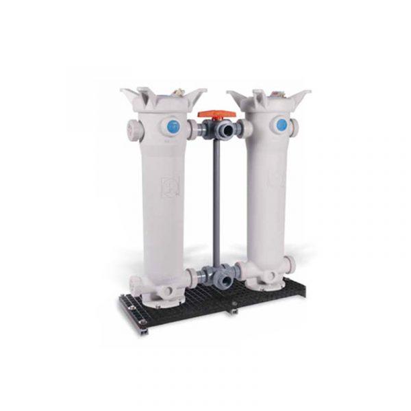 Serie FLV – Filtro de Bolsa Duplex en PVC, CPVC y PP. Longitud Doble (7″x32″) Marca Hayward