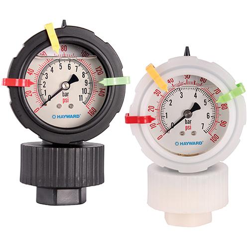 Serie GA – Manómetro con Sello Químico (Protector de Manómetro) en Polipropileno y PVDF Marca Hayward