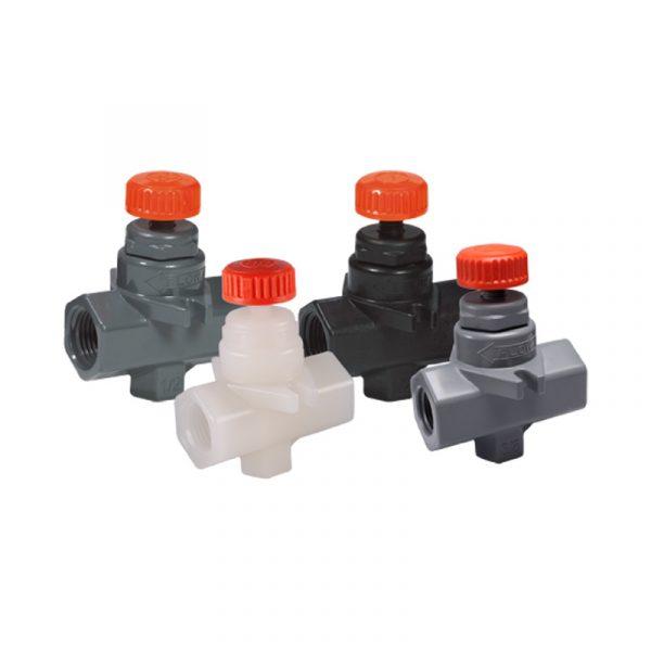Serie NVA – Válvula de Aguja de 1/4″ a 1/2″ en PVC, CPVC, PVDF y Polipropileno Marca Hayward