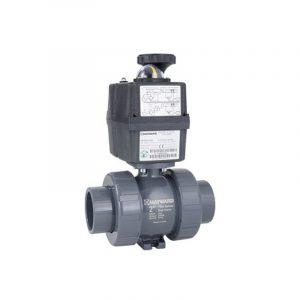 serie tbh valvula bola pvc cpvc actuador electrico hayward luor7